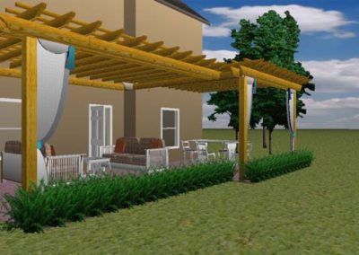 Attached Pergola 1 side wider