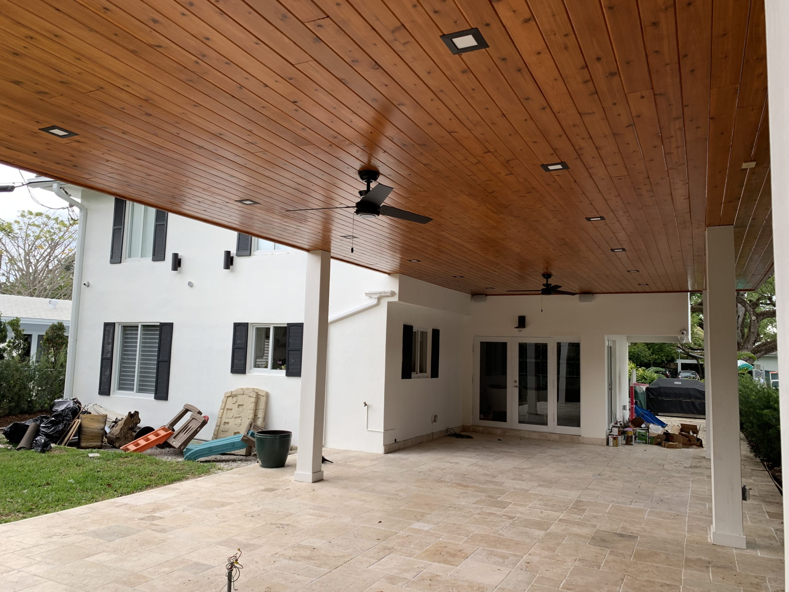Varnished Cedar Ceiling