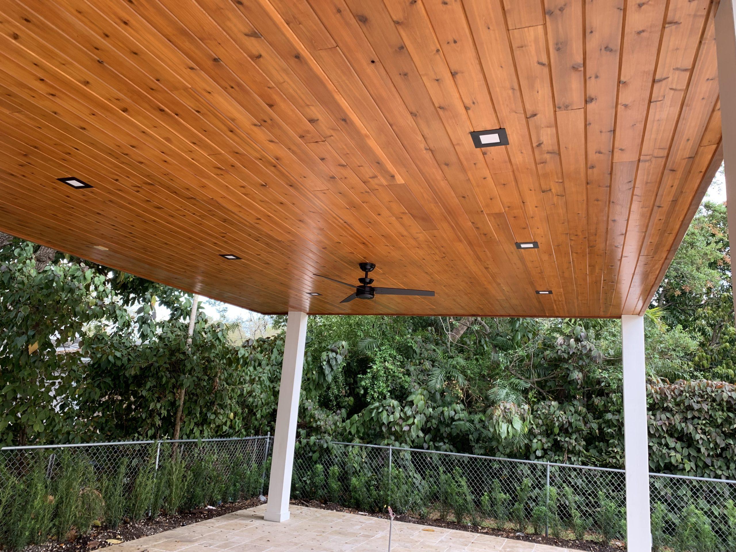 Western Red Cedar Ceiling